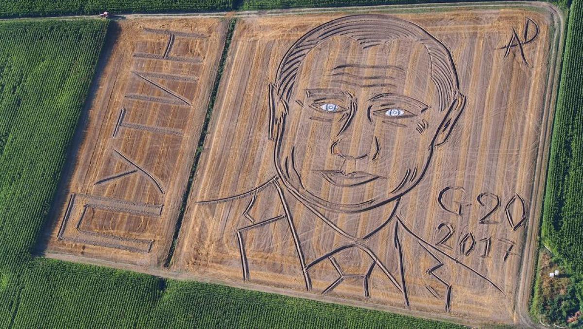 В Италии появился 135-ти метровый портрет Владимира Путина
