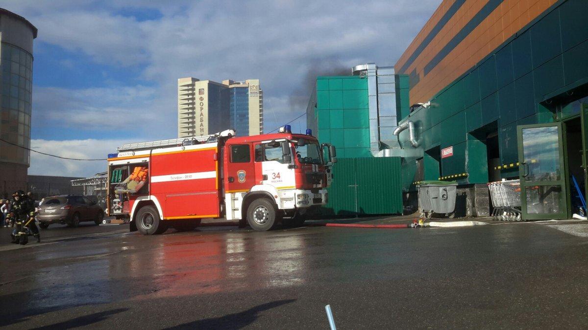 В торговом центре «Рио» в Москве произошёл пожар