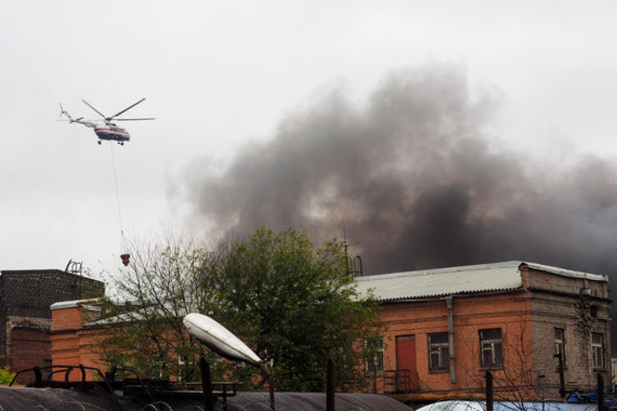Пожар на тракторном заводе в Петербурге потушен
