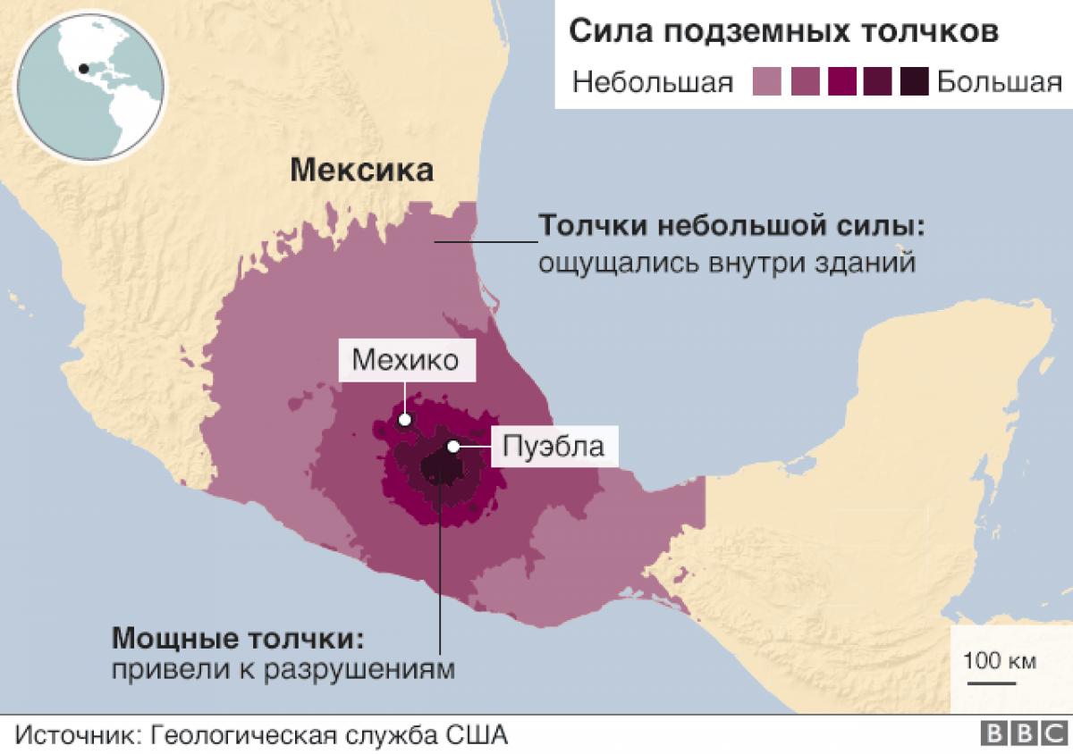 Число жертв землятрясеня в Мексике возросло