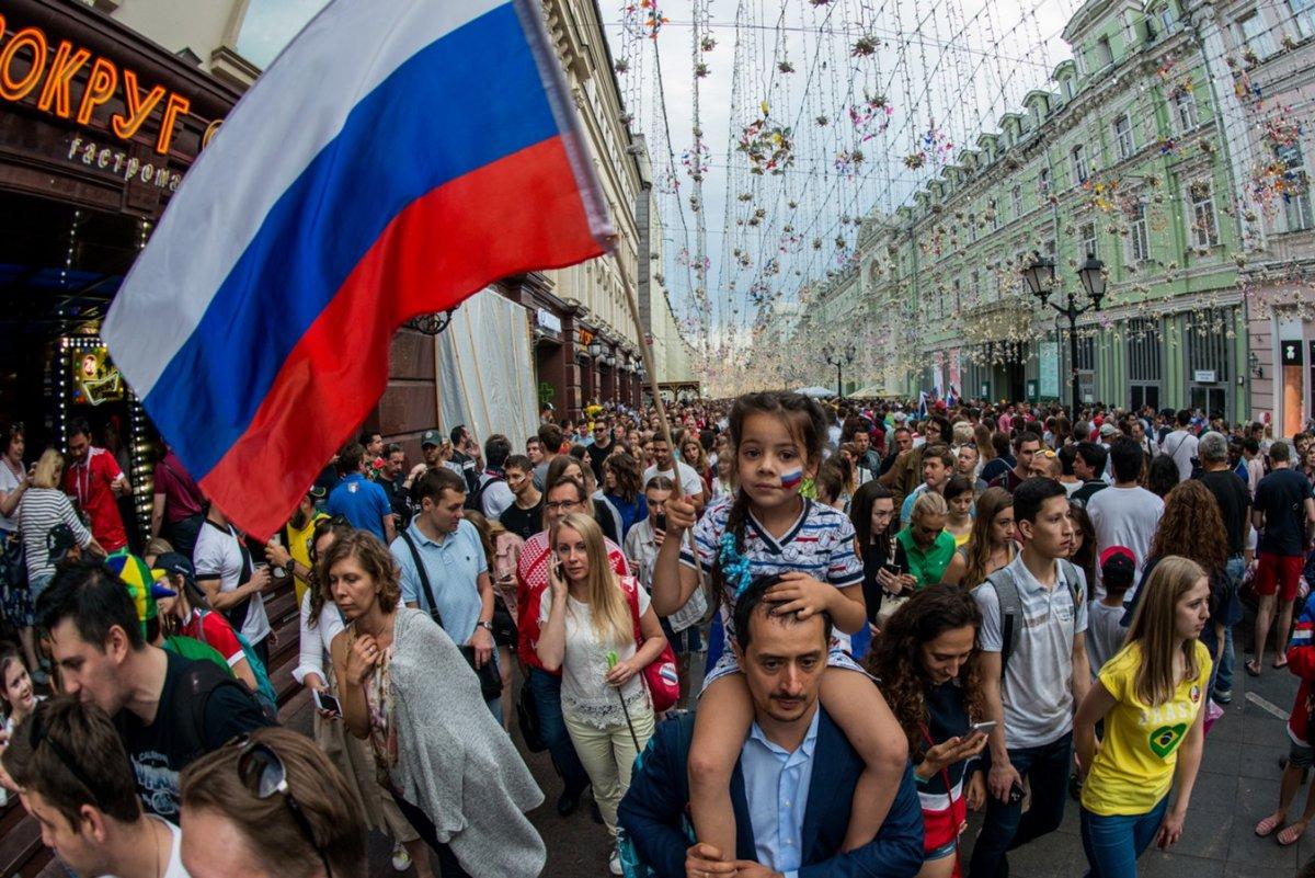 Победа над Испанией в центре Москвы