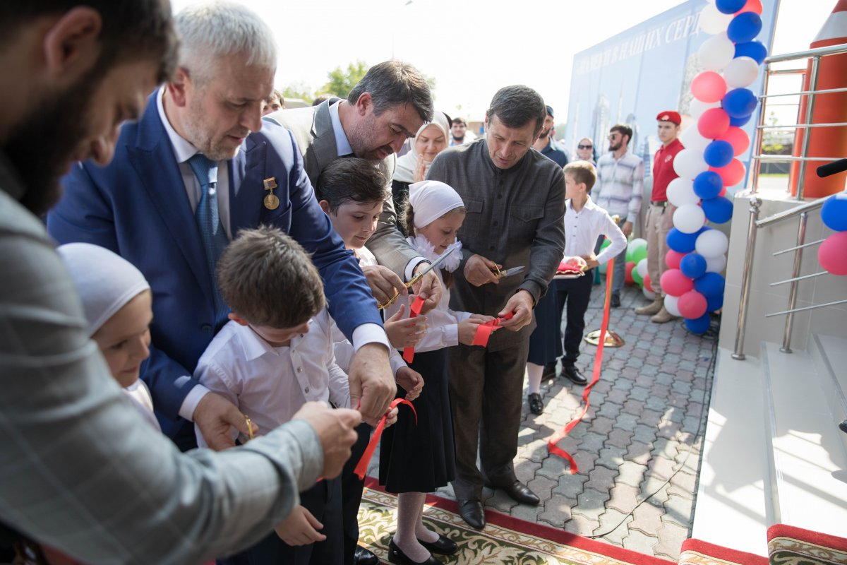 В Грозном состоялось открытие нового здания СОШ №28