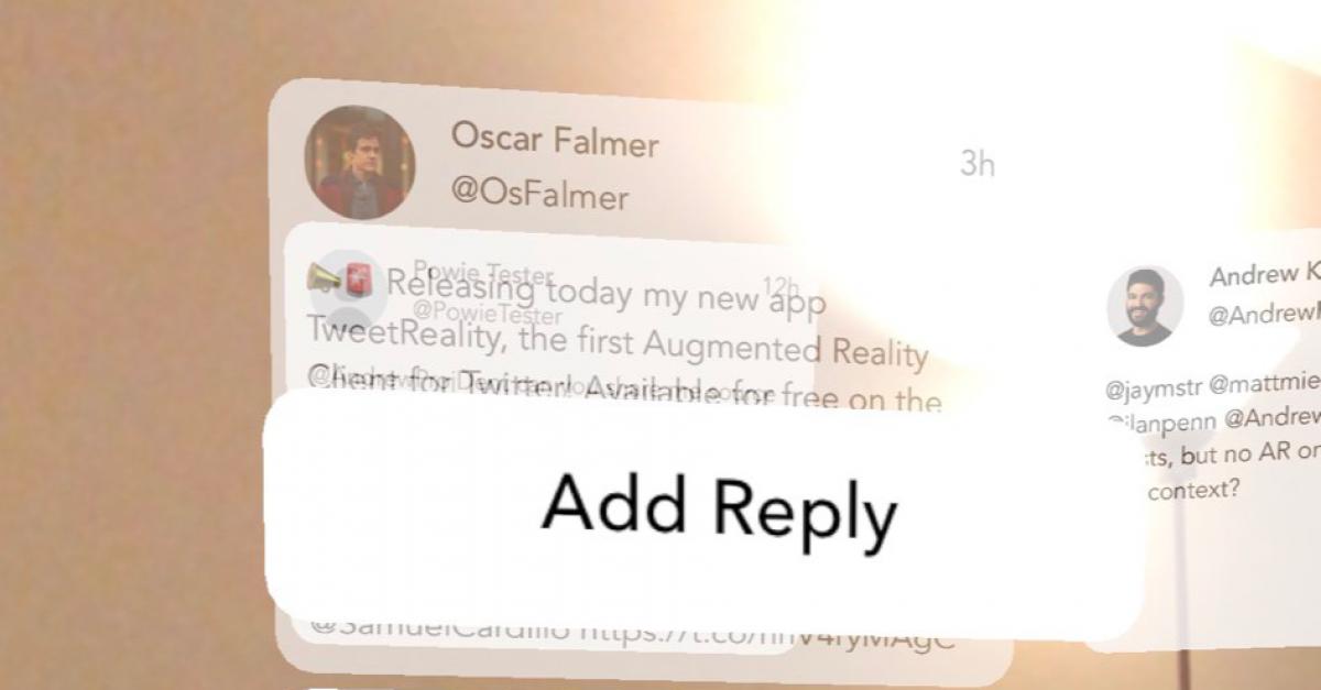 Twitter появился в дополненной реальности