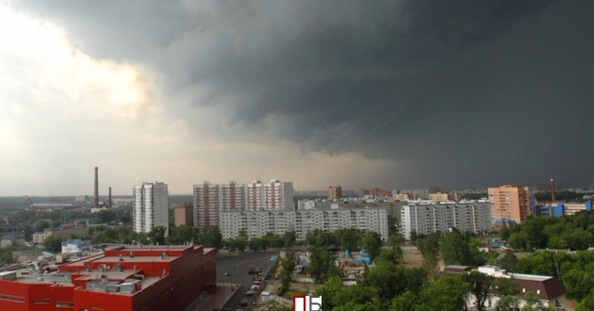 МЧС: сильный ветер и грозы ожидаются в ближайшие часы в Москве