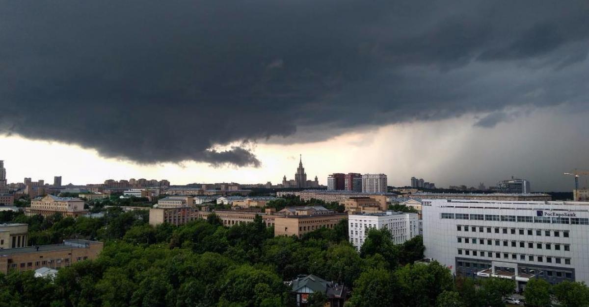 Москву ожидают ливни, грозы и сильный ветер