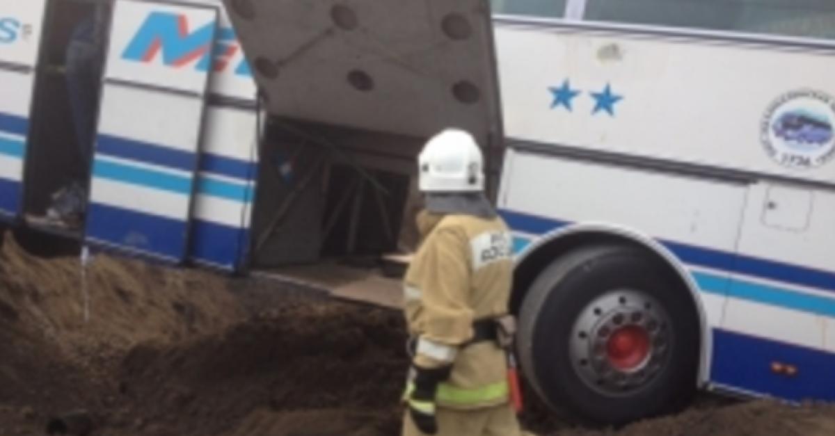 В Дагестане в результате ДТП пострадали 19 пассажиров рейсового автобуса