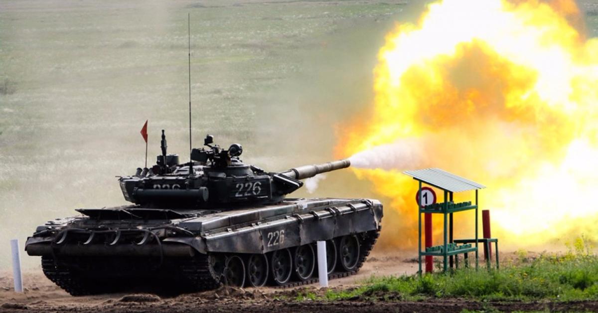 В Подмосковье проходят международные состязания по танковому биатлону