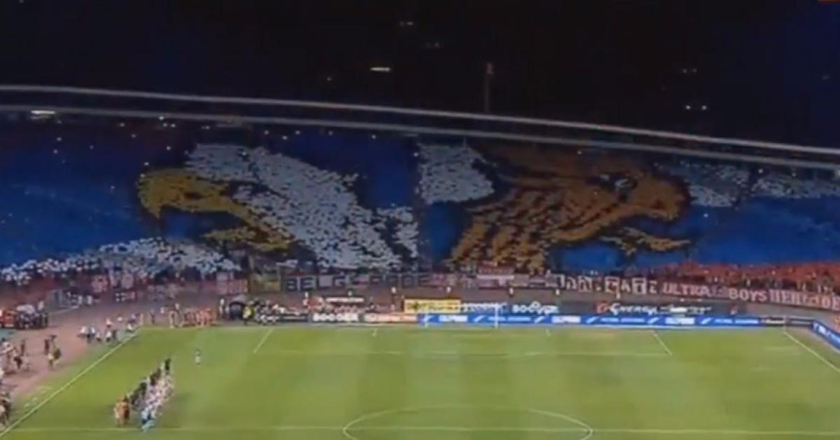Сербские болельщики устроили флешмоб с российским флагом