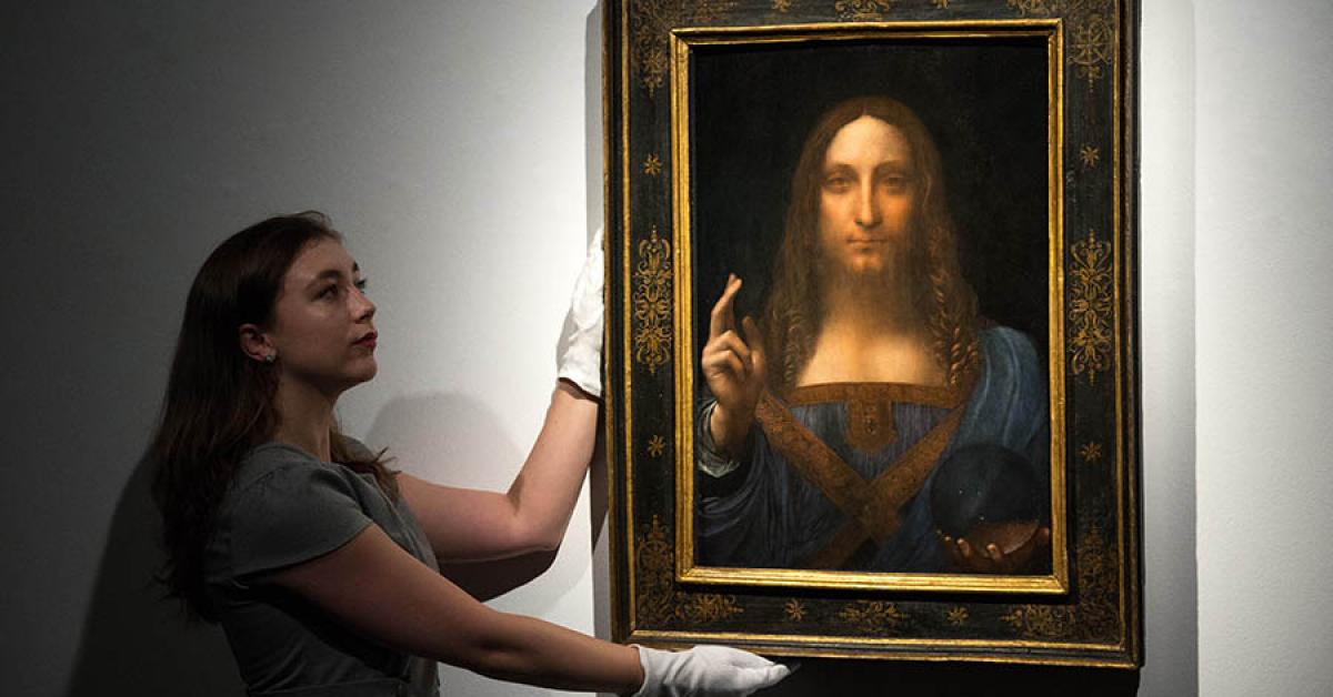 Картина «Спаситель мира» стала самой дорогой в мире