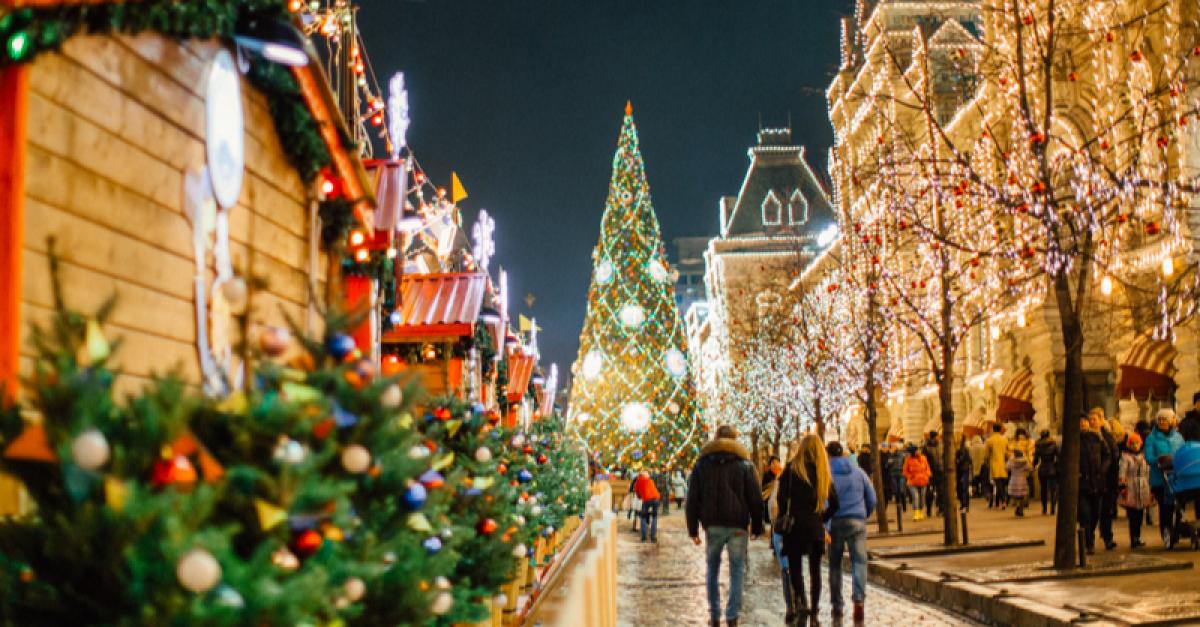 Москва вошла в топ-5 популярных новогодних маршрутов