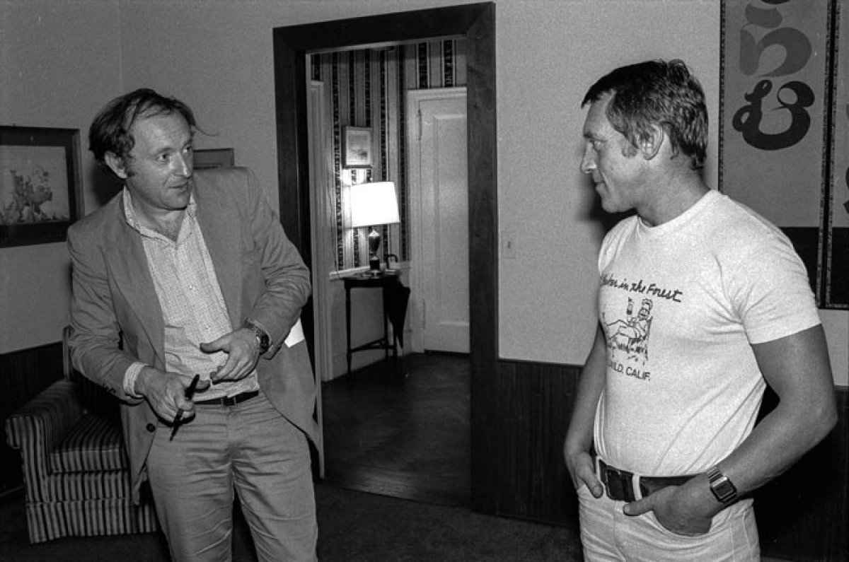 Владимир Высоцкий и Иосиф Бродский в квартире Михаила Барышникова. 1976 год, Нью Йорк