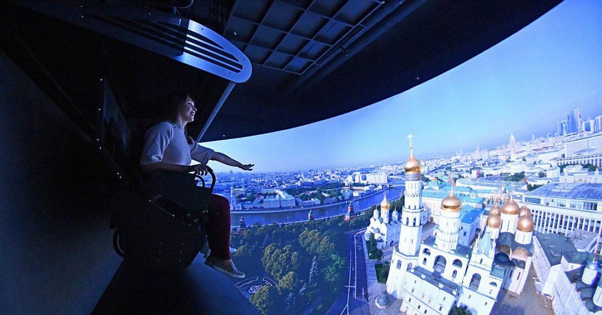 Москвичи смогут посетить аттракцион «Полет над Россией»