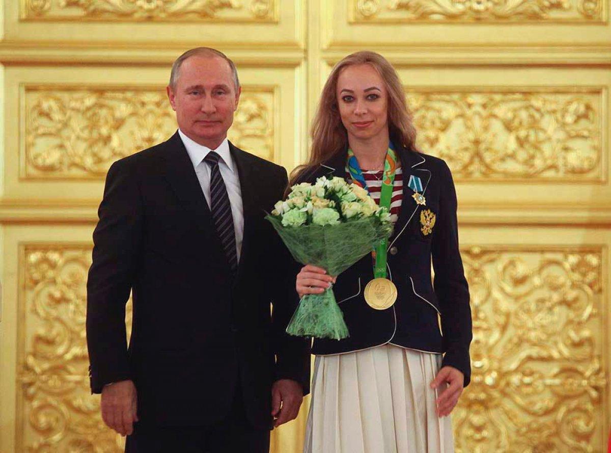 Анастасия Максимова и Президент РФ Владимир Путин