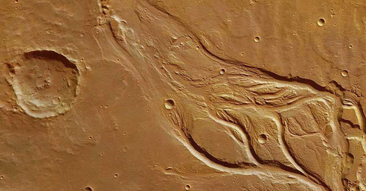 На Марсе были полноводные реки