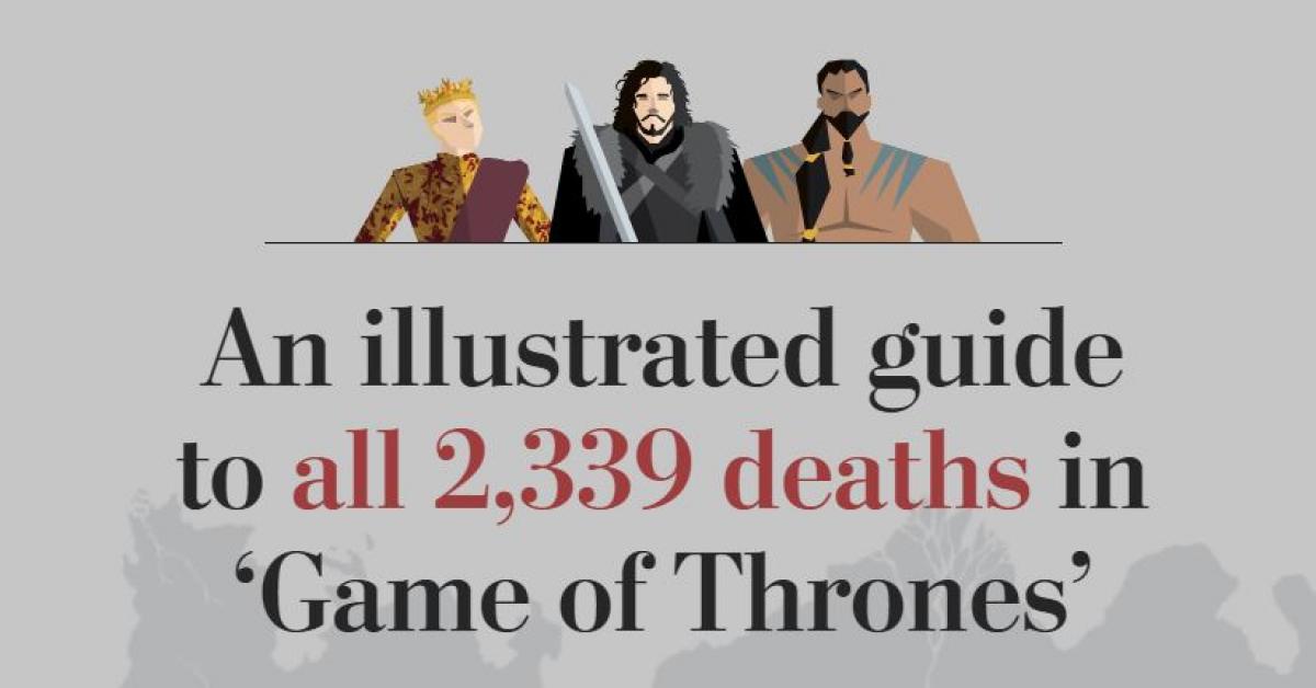 Появился подробный гид по всем смертям «Игры престолов»