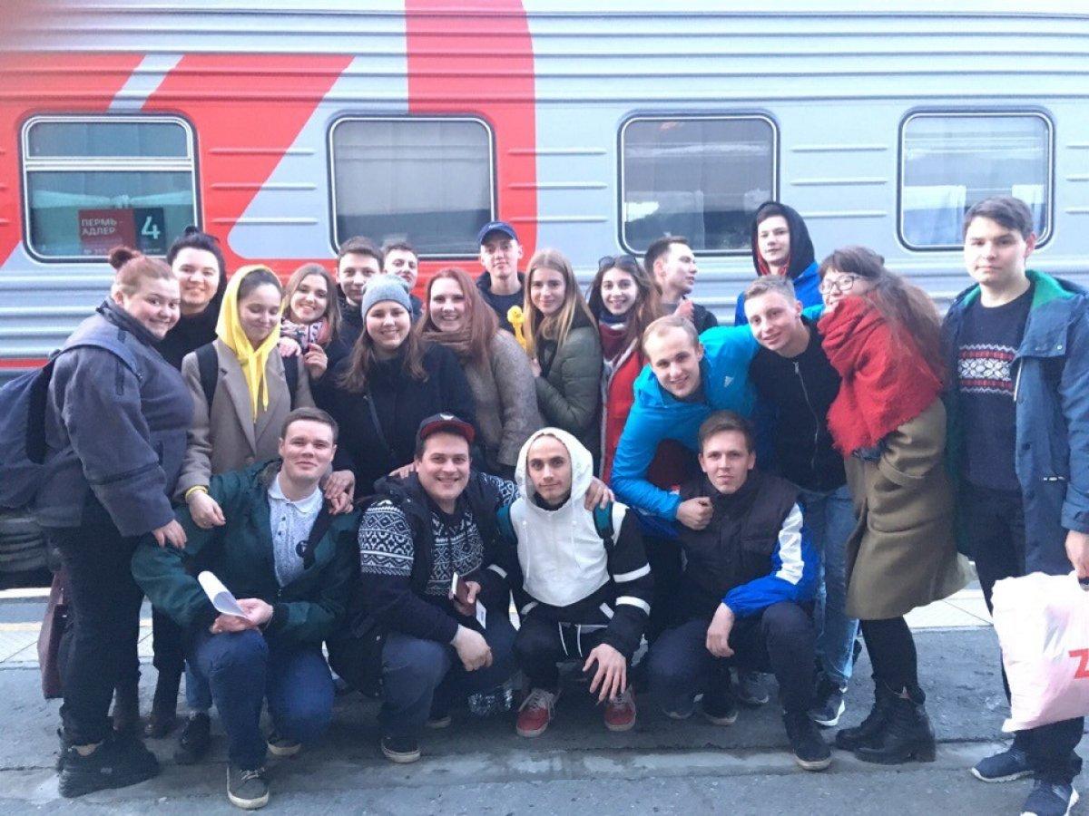 Вчера, с вокзала Пермь II, четыре представителя студенческих отряда Штаба