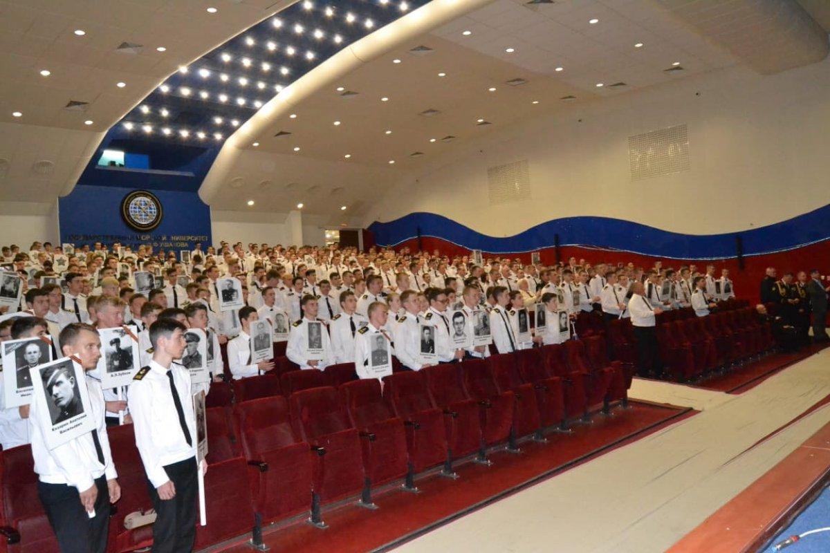 7 мая 2019 года в ГМУ им. Адмирала Ф.Ф.Ушакова прошел праздничный концерт, посвященный 74-ой годовщине Победы в Великой Отечественной войне