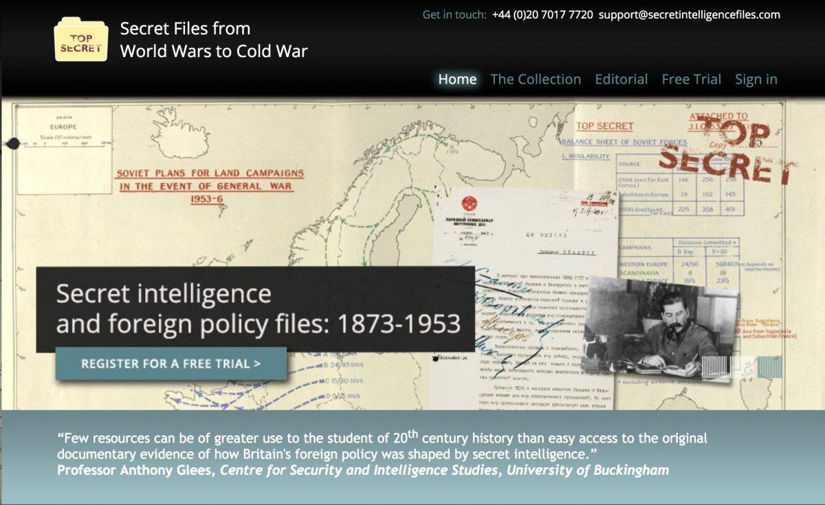 """Исторический факультет МГУ получил постоянный доступ к базе данных Национального архива Великобритании """"Secret Files from World Wars to Cold War""""."""