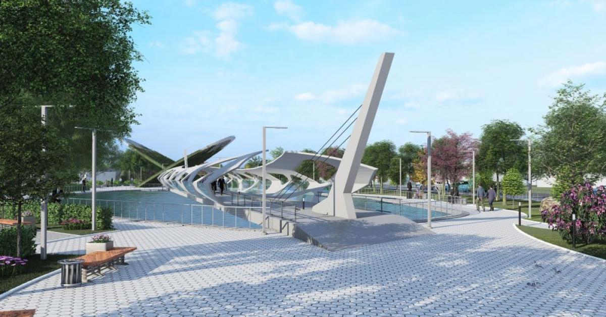 Студенты создали проект парка в городе Шали