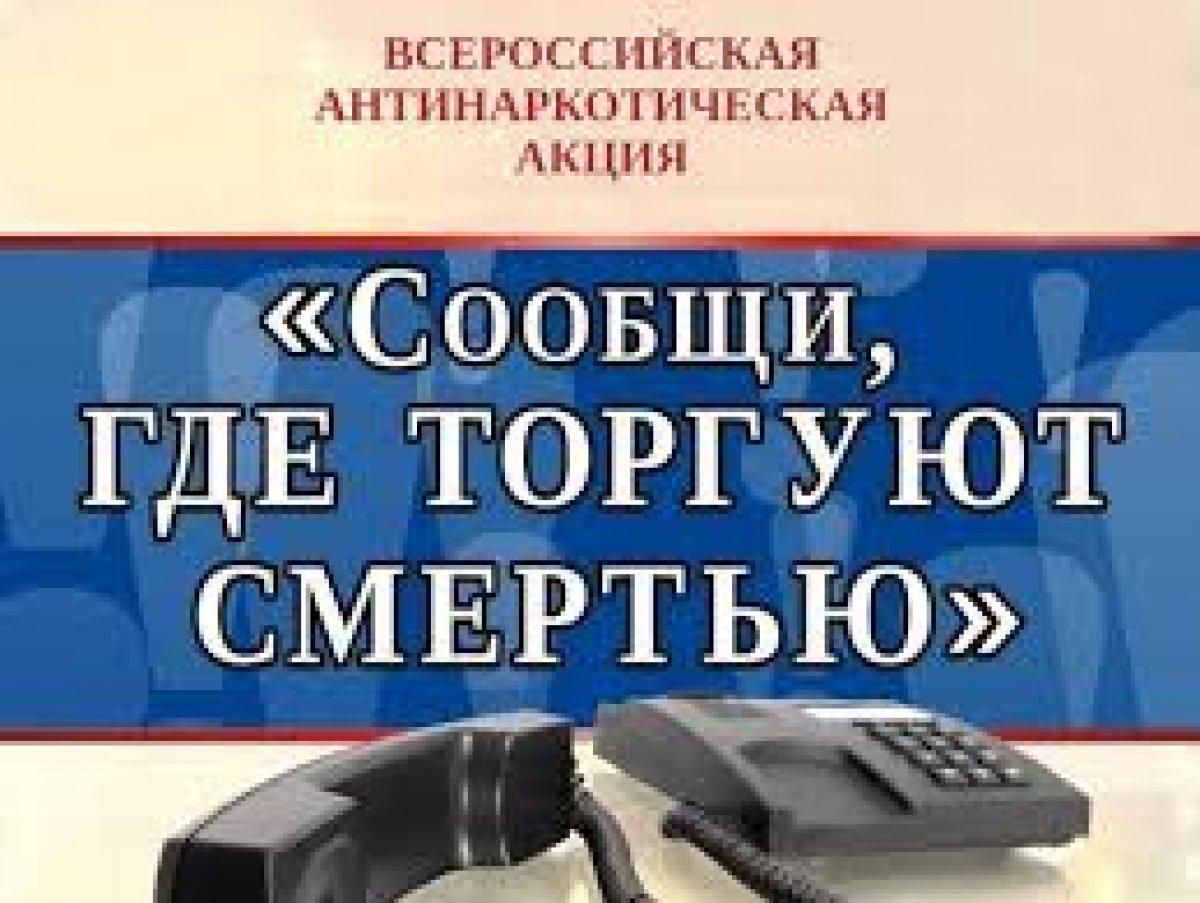 II этап Всероссийской профилактической антинаркотической акции «Сообщи, где торгуют смертью»