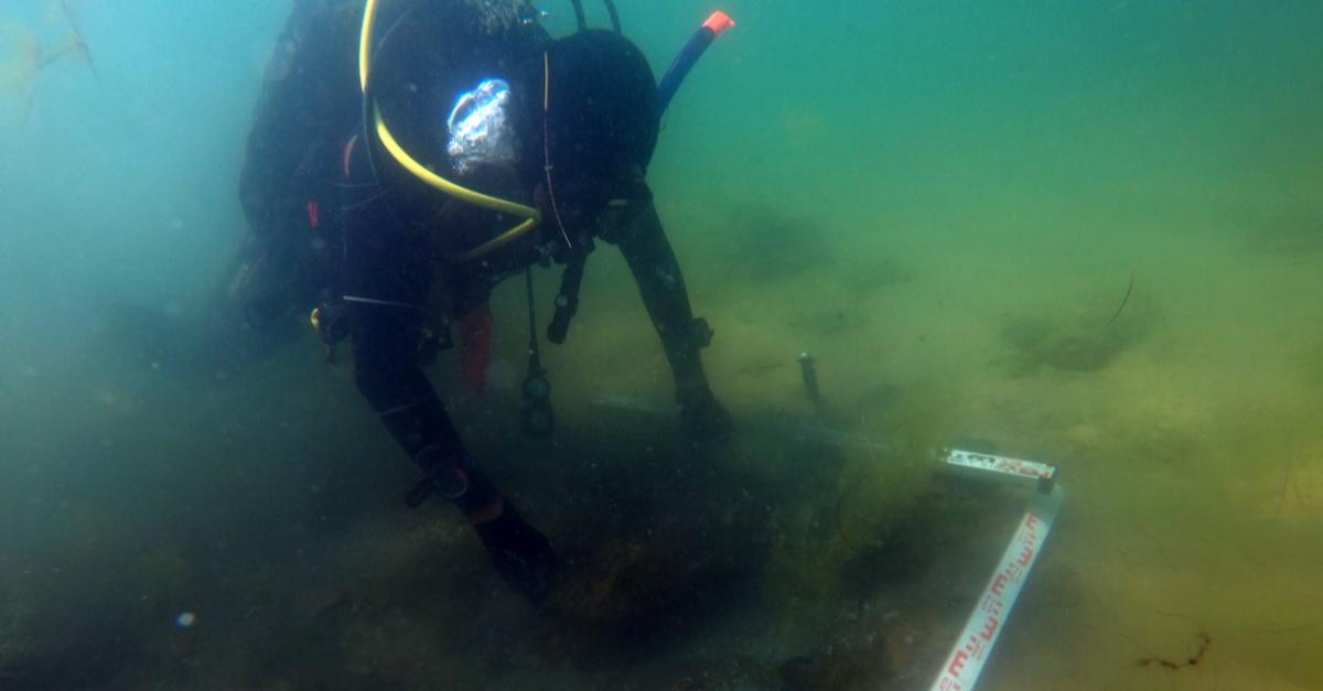Студент обнаружил старинный затонувший корабль